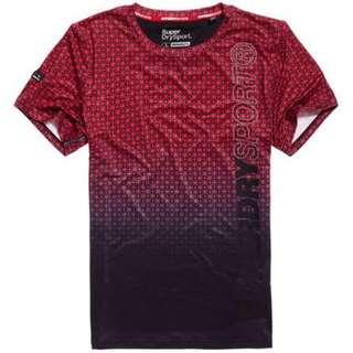 Superdry 極度乾燥 Athletic 滿版印花 T 恤