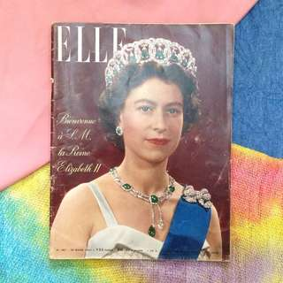 25 MARCH 1957 ELLE (FR) Vintage Fashion Magazine/ Queen Elizabeth II Issue
