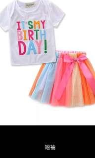 PO birthday dress brand new size 80-130cm