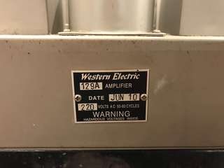 仿western electric phono 129a