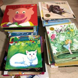 74 Korean language children hard cover story books