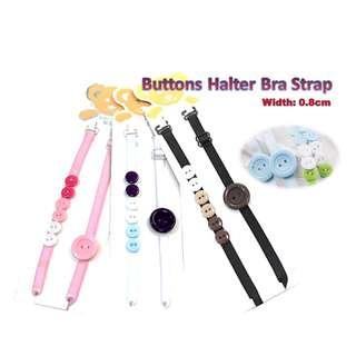 Buttons Halter Bra Strap - Buy 5 Get 1 Free