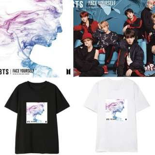 Preorder - BTS FACE YOURSELF TSHIRT (SIZE  S-2XL) exc.pos