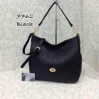Coach Hobo Handbag Black Color