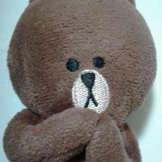 Line Friends(Brown bear Softoy Keychain)