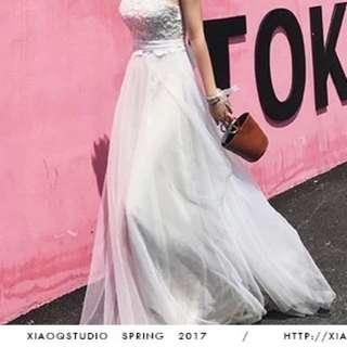 韓式新娘結婚拖尾婚紗