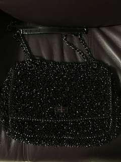 正品 Anteprima 黑紫 閃片 wirebag 手挽袋 側揹袋 單肩袋 斜背包 clutch lucchetto