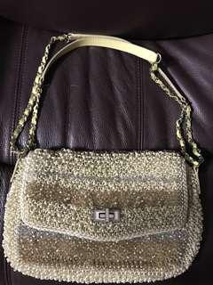 正品 Anteprima 金銀銅 閃片 wirebag 手挽袋 側揹袋 單肩袋 斜背包 clutch lucchetto