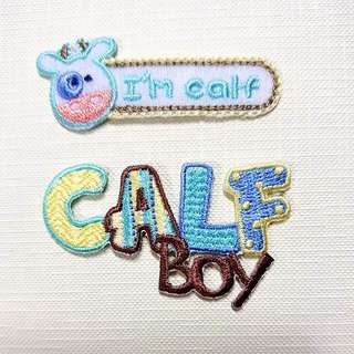 Iron On Patch/ Applique ↪ I'm Calf & Calf Boy 🐄🐄 💱 $3.90 Each Set - 2 Pieces