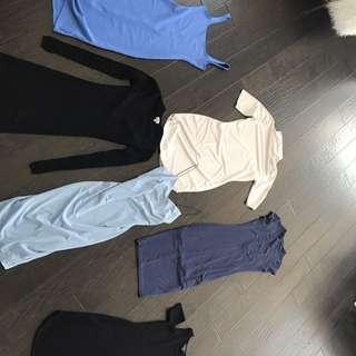 6 Dress Bundle Aritzia American Apparel M