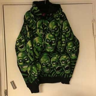 Supreme skull hoodie