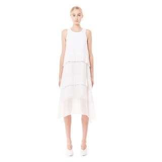 Collate The Label Pleated Hem Layered Dress