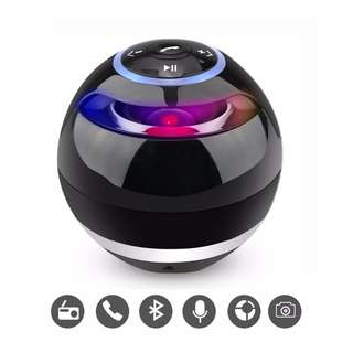 Mini Round Wireless Bluetooth Speaker Portable Subwoofer w Mic Support TF Card USB MP3 FM AUX Hands-free Calling For Smartphones