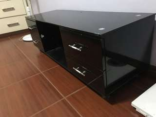 Tv rack, tempered glass