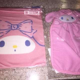 Sanrio My Melody 一番賞 抽獎 索繩袋 + 廚房手巾
