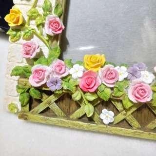 🍓歐風立體玫瑰花相框