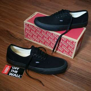 Vans Authentic All Black Premium Quality Import Made in Cina Berkualitas
