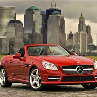 RENT: RED MERCEDES SLK (FACELIFT MODEL)