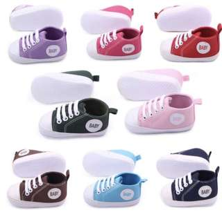 Infant Baby Sneakers Soft Sole Non-Slip Crib Canvas Shoe