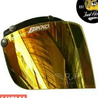 Bogo helmet crystal chrome yellow visor