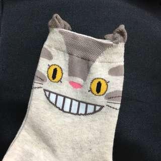 正韓 韓製 龍貓質感超好立體襪子
