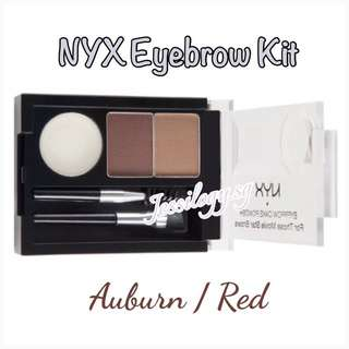 INSTOCK NYX Eyebrow Kit / NYX Cosmetics Eye Brow Cake Powder - AUBURN / RED