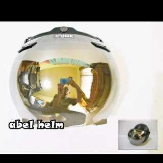 Bogo helmet round visor chrome
