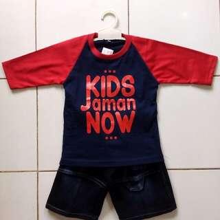 Setelan anak,kaos,jeans