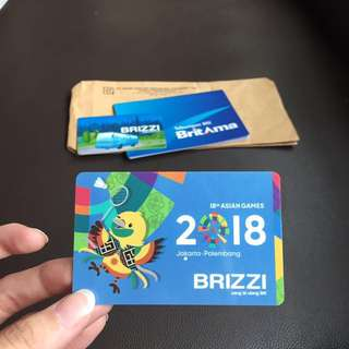 Buy1get2 Brizzi emoney ASIAN Games 2018 limited edition