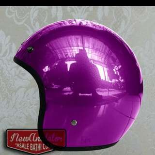Helmet bogo chrome purple robot
