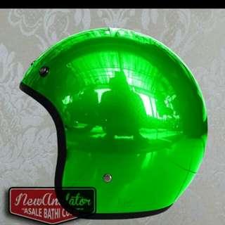 Helmet bogo chrome green robot