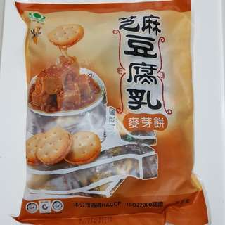 ✈大玩台灣代購✈ 昇田新品芝麻豆腐乳麥芽餅500g