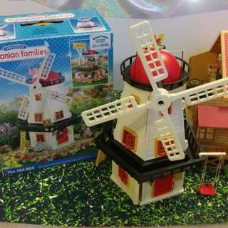 1990s Original Sylvanian Families  The Old Mill 旧工場 風車の家