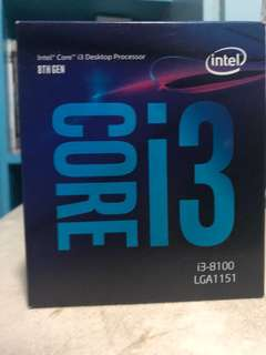 Intel Core i3 8100 3.6ghz Quad Core