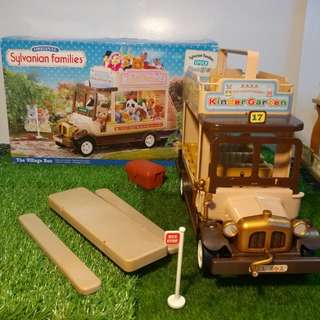 1992s Oringinal Sylvanian Families  The Village Bus 森林家族 村のバス
