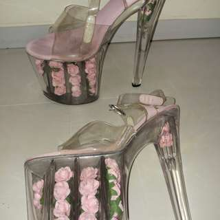 8 inches high heel platform shoes