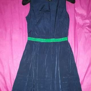 Mango navy dress