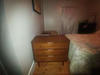 Antique 2pc Dresser and Nightstand 1969 Victoriaville Vic Art