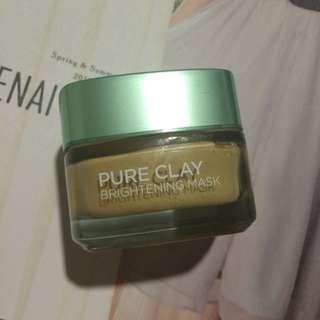 Loreal - Pure Clay Brightening Mask Yuzu Lemon (50ml)