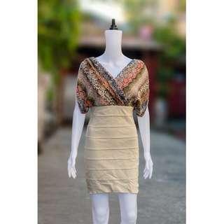 VERO MODA Ruffles Sleeve High Waist Dress (Stretch)