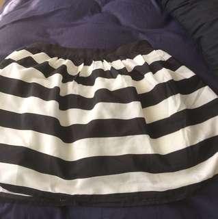 Black and white puff skirt
