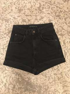 Black Zara High Waisted Shorts