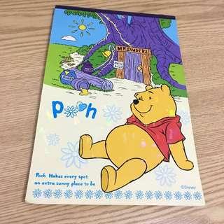 小熊維尼 信紙簿