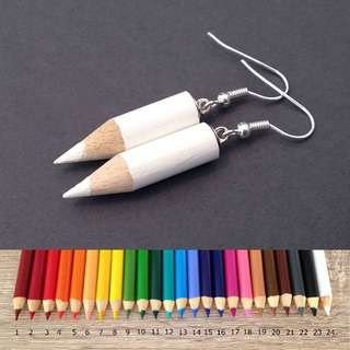 FREE POSTAGE BRAND NEW CUTE COLOURED PENCIL EARRINGS GIFT IDEA FOR BEST FRIEND OR TEACHER