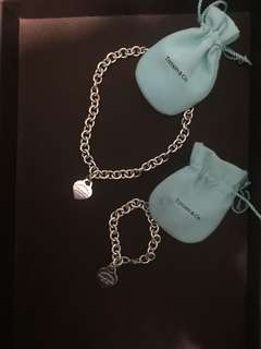 Tiffany bracelet and necklace