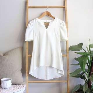 Structured peplum blouse