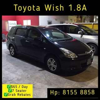 Toyota Wish 1.8 Auto MPV - Grab Gar Rentals