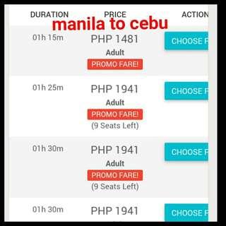 Manila to Cebu VV
