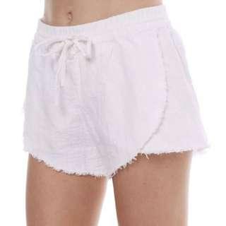 Rusty Heartbreaker Linen Shorts, Size S (8)