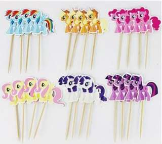 🍍 My Little Pony Cupcake Topper 24 pcs